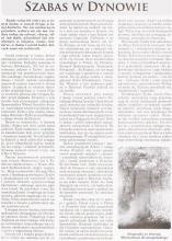 כתבה בעיתון על שבת בדינוב - עמ' 1